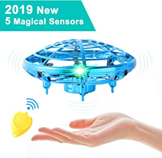 Flying Toys for Kids,Mini UFO Drone,Hand Operated Drones with 5 Sensors and 2 Speed,Easy Indoor Outdoor Flying Ball Drone Toys,Great Flying Drone Gift for Boys/Girls,USB Charging and Remote Controller