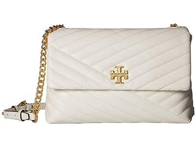 Tory Burch Kira Chevron Flap Shoulder Bag (New Ivory) Handbags