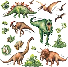 DECOWALL DS-8034 Watercolour Dinosaur Kids Wall Stickers Wall Decals Peel and Stick Removable Wall Stickers for Kids Nurse...
