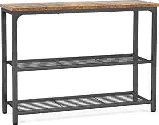 Ecoprsio Sofa Table Console Table with Double Mesh Shelves, Industrial Entryway Table Foyer Table for Entryway, Front Hal...