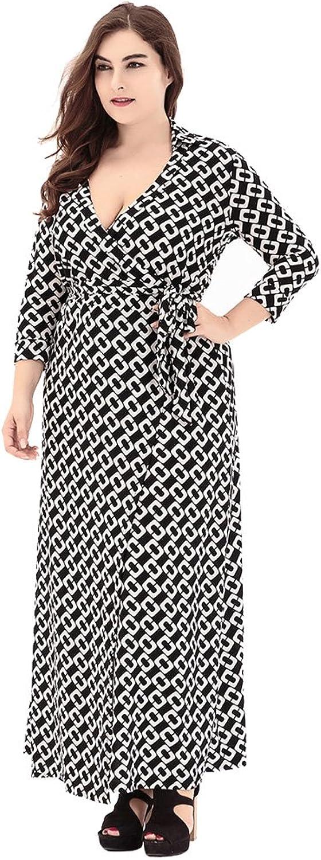 Exlura Women's Plus Size Maxi Dress VNeck Party Dress