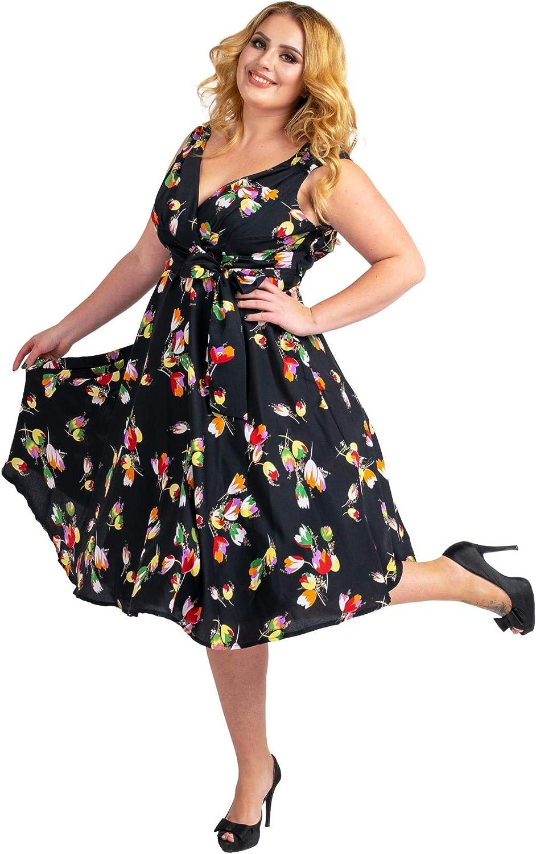Abito da donna 40s 50s Swing Vintage Rockabilly Ladies Retro Prom Party Plus Size Abiti