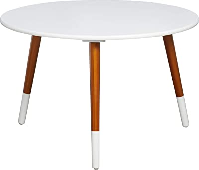 3e38b5f08da Target Marketing Systems Livia Collection Ultra Modern Round Coffee Table  With Splayed Leg Finish