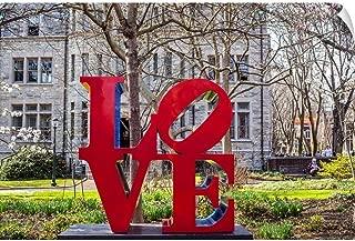 CANVAS ON DEMAND Robert Indiana's Love Sculpture at University of Pennsylvania Wall Decal, 24