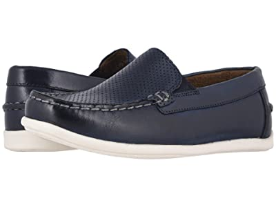 Florsheim Kids Jasper Perf Venetian Jr. (Toddler/Little Kid/Big Kid) (Navy) Boys Shoes