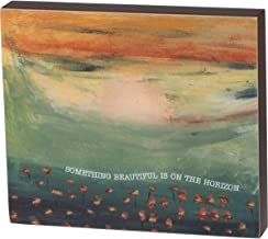 """Primitives by Kathy Friendship Heart Gallery Block Sign, 7"""" x 6"""", On The Horizon"""