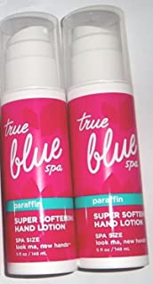 Set of 2 Bath and Body Works True Blue Spa Paraffin Hand Lotion 5 Ounce Each Look Ma New Hands Hot Pink Pump Bottles