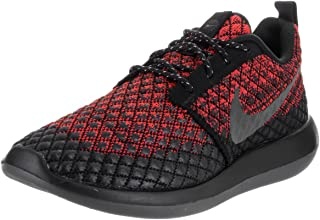 Nike Men's Roshe Two Flyknit 365 Running Shoe, Bright Crimson/Grey-Black, 12