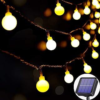 Solar Outdoor Lights Waterproof, 60LED 8M/27Ft Garden Solar Lights, 8 Modes Solar Powered Crystal Ball Decorative Lights f...