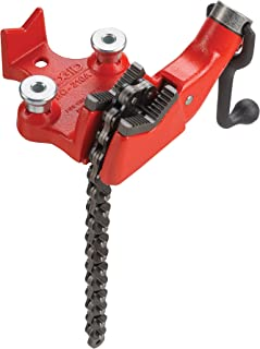 RIDGID 40185 BC210A Top Screw Bench Chain Vise, 1/8-inch to 2-1/2-inch Bench Vise with Built-In Crank Handle