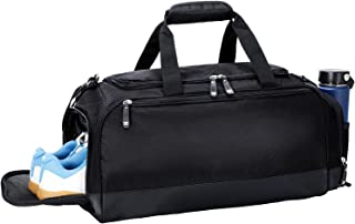 MIER Gym Bag with Shoe Compartment Men Travel Sports Duffel, 24 Inches, Black