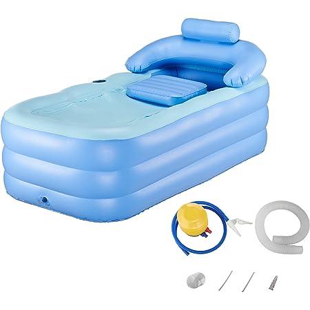 Hiram Vasca Da Bagno Gonfiabile Vasca Pieghevole Per Adulti Bambini Idromassaggio Spa Letto Portatile Per Bagno Bath Tub Amazon It Fai Da Te