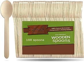 مجموعة خشبية للاستعمال مرة واحدة من خشب البتولا الطبيعي القابل للتحلل الحيوي | أدوات مائدة خشبية قابلة للتحلل البيولوجي لل...