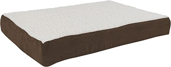Orthopedic Sherpa Top Pet Bed with Memory Foam and Removable Cover Collection