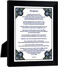 9x7 /'/' DESIDERATA EHRMANN PLACIDLY NOISE HASTE QUOTE FRAMED ART PRINT F97X269