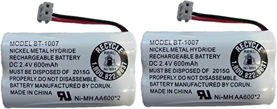 New! Genuine Uniden BBTY0651101 BT-1007 NiMH 600mAh DC 2.4V Rechargeable Cordless Telephone Battery (2-Pack)
