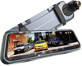 """iMirror 9.66"""" 2.5K Mirror Dash Cam for Cars with Full IPS Touch Screen, Waterproof Backup Camera, Rear View Mirror Camera,..."""