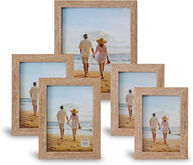 Picture Frames Set For Wall Gallery or Tabletop Display, Wood Photo Frames Collage Set Of 5, One 8x10 in, Two 5x7 in,Two 4x6