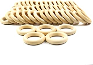 Artique Mind & Creation Handmade Wood Napkin Ring Set with Napkin Rings - Artisan Crafted in India (Pack of 20)