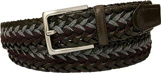 ESPERANTO Cintura treccia unisex in cuoio e lana - 35-mm