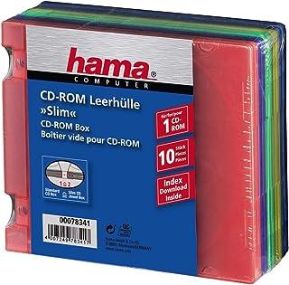 Slim PP CD-ROM-Box 10, assorted colours