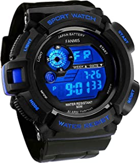 Fanmis Mens Military Multifunction Digital LED Watch...