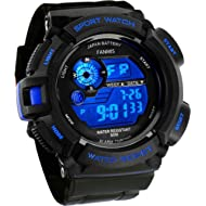 Fanmis Mens Military Multifunction Digital LED Watch Electronic Waterproof Alarm Quartz Sports Watch
