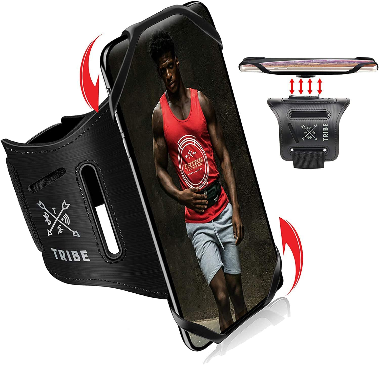 TRIBE Running Phone Holder famous Sports Armband. 5 popular iPhone Arm Cell