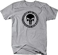 Kill Em All Let God Sort Them Out Patriot Skull Military T Shirt for Men