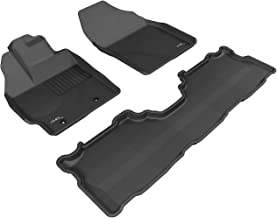 3D MAXpider Complete Set Custom Fit All-Weather Floor Mat for Select Toyota Prius v Models - Kagu Rubber (Black)