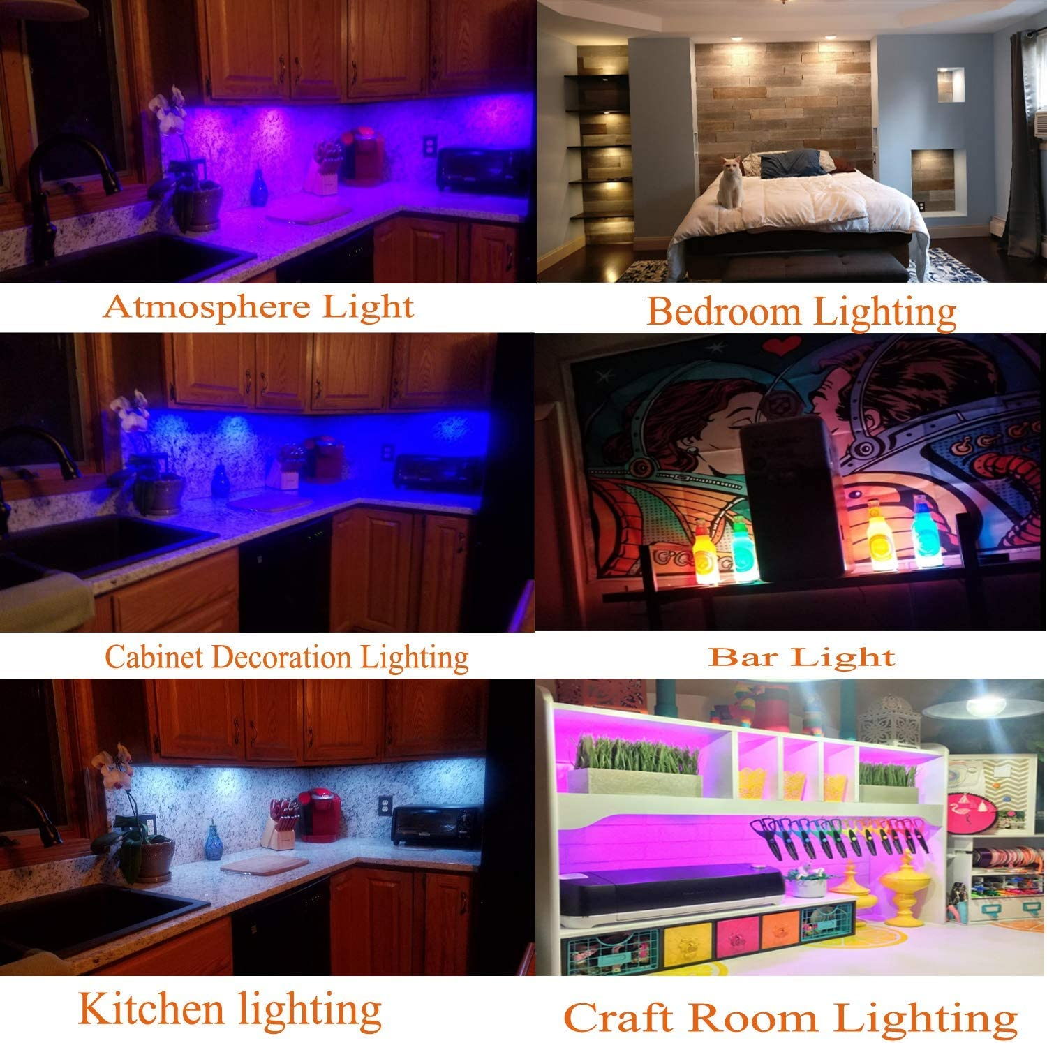 Buy Aiboo Rgb Color Changing Led Under Cabinet Lights Kit Aluminum Slim Multi Color Puck Lights For Kitchen Counter Furniture Holiday Ambiance Christmas Decor Lighting 4 Lights Online In Indonesia B01fukkzfo