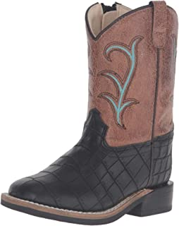 Old West Kids Boots Unisex Square Toe (Toddler)