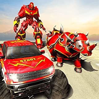 Ultimate Futuristic Rhino Robot Monster Truck 3D Robot car Game 2018