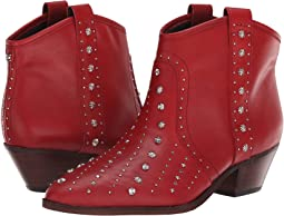 Deep Red Sequins Bally Leather