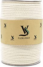 Natural Cotton Macrame Cord Rope - Braided 4mm 1/6inch 110 Yards for Plant Hanger Craft Wall Hanging Tapestry Handmade DIY Crafts