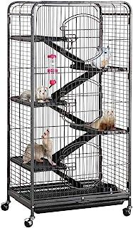 Yaheetech Jaula para Hamster Grande Jaulas de 5 Pisos para Hurón Chinchilla Casetas para Roedores con Ruedas 64x43x131cm