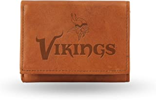 NFL Mens Embossed Leather Trifold Wallet
