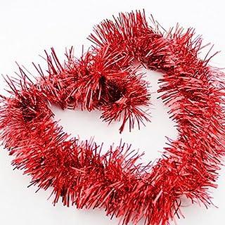 Brinny 5pcs Guirlandes Tinsel Métallique de Noël 2m Guirlande de Sapin Décoration Scintillantes Saison Maison Mariage Anni...