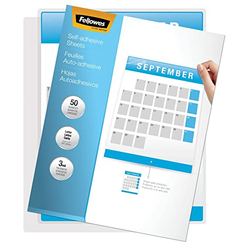 Fellowes 5221502 Self-Laminating Sheets, 3mil, 12 x 9 1/4 (Box of 50)