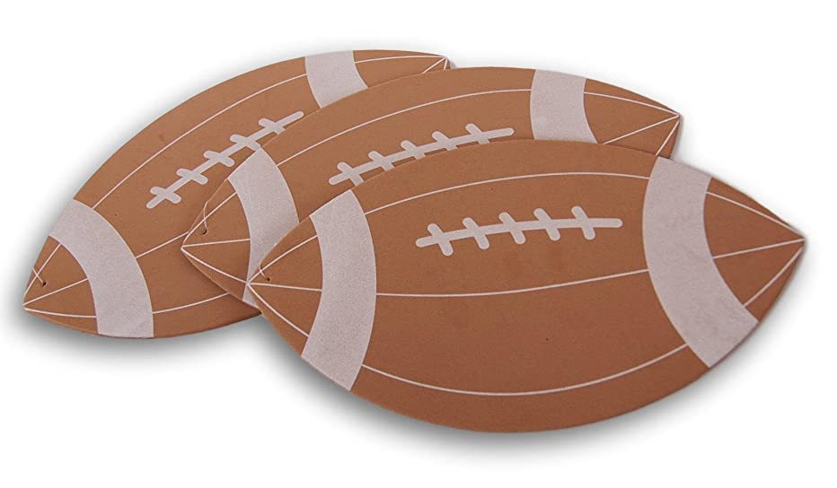 Foamies Life Size Foam Football Craft Shape - Set of 3