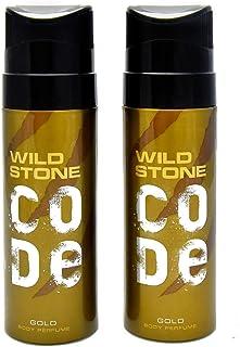 Wild Stone Code Gold Body Perfume SprayforMen, Pack of 2 (120ml each)