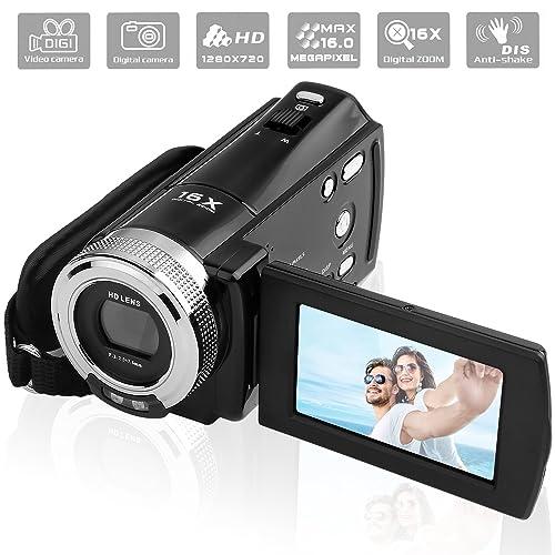 PowerLead Mini DV C8 16MP Haute Définition Caméscope Vidéo Numérique DVR 2.7 '' TFT LCD 16x Zoom Hd Enregistreur Vidéo Caméra 1280 x 720p Caméscope Numérique