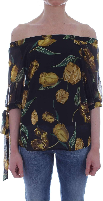 Emme Marella Women's 31911192BLACK Black Polyester Blouse