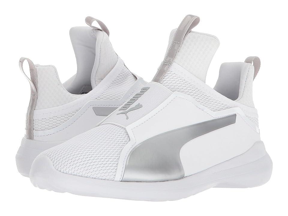 Puma Kids Fierce Core (Little Kid/Big Kid) (Puma White/Gray Violet) Girls Shoes