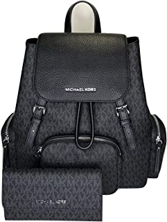 MICHAEL Michael Kors Abbey Large Cargo Backpack bundled with Michael Kors Jet Set Travel Trifold Wallet