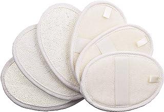 6 Packs Exfoliating Loofah Pads,100% Natural Loofah Sponge Scrubber Brush Close Skin for Men and Women,Perfect for Bath Sp...