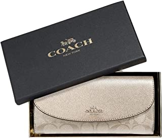a617c87f75a69 Coach Women s Boxed Slim Envelope Leather Wallet in Signature Canvas