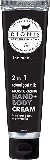 Dionis Natural Goat Milk for Men 2 in 1 Moisturizing Hand & Body Cream - 3.3 oz