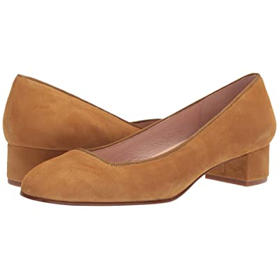 French Sole Dukemu Block Kitten Heel (Mustard) Women
