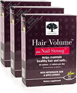 New Nordic Hair Volume w/Nail Strong, 60 Tablets, Pack of 3